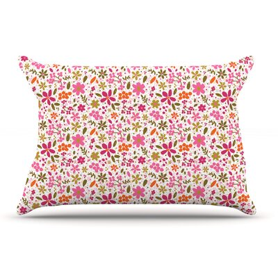 Carolyn Greifeld Pink Flowers Garden Pillow Case