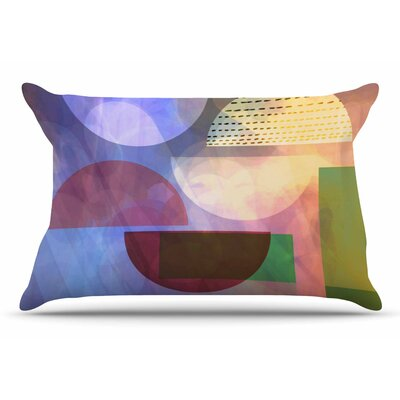 AlyZen Moonshadow Baying At The Moon Geometric Pillow Case