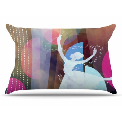 AlyZen Moonshadow Pink Ballet Geometric Pillow Case