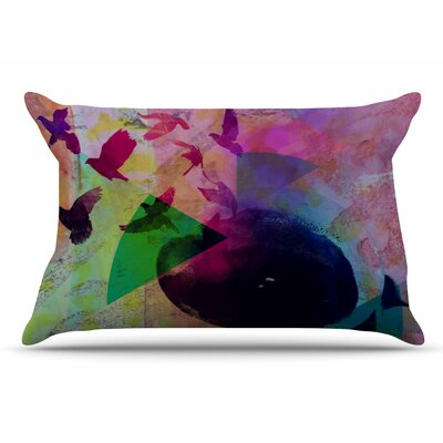 AlyZen Moonshadow Tea Birds Pillow Case