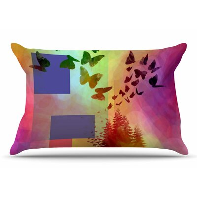 AlyZen Moonshadow Teacup Fantasy Birds Pillow Case