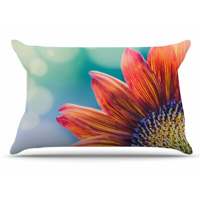Ann Barnes Fire & Ice Flower Bokeh Pillow Case