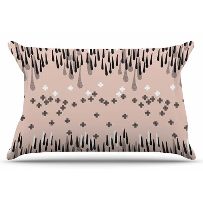 Zara Martina Mansen A Drop Of Memphis Pillow Case Color: Peach