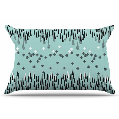 Zara Martina Mansen A Drop Of Memphis Pillow Case Color: Aqua