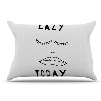 Vasare Nar Lazy Today Typography Pillow Case Color: Off White