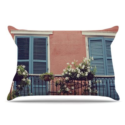 Sylvia Cook New Orleans Balcony Pillow Case