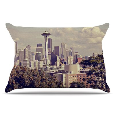 Sylvia Cook Space Needle Skyline Pillow Case