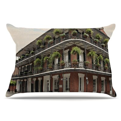 Sylvia Cook New Orleans Street Corner Pillow Case