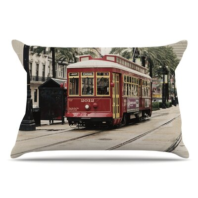 Sylvia Cook Canal Street Car Travel Urban Pillow Case