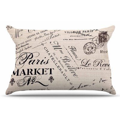 Sylvia Cook French Script Handwriting Pillow Case