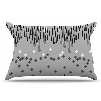 Zara Martina Mansen A Drop Of Memphis Pillow Case Color: Gray