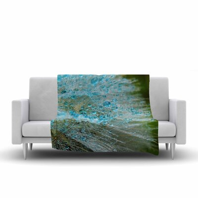Ginkelmier Rain Dandelion Photography Fleece Throw Size: 50 W x 60 L