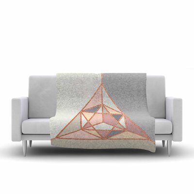 Draper Geometry Digital Fleece Throw Size: 50 W x 60 L