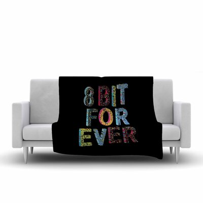 Frederic Levy Hadida 8 Bit for Ever Digital Fleece Throw Size: 50 W x 60 L
