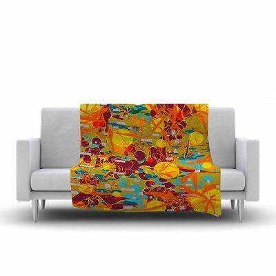 Frederic Levy Hadida Foliage Folie 3 Digital Fleece Throw Size: 50 W x 60 L
