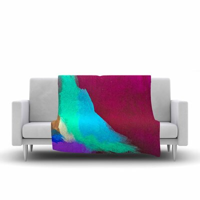 Geordanna Fields Sit Still, Look Pretty Painting Fleece Throw Size: 60 W x 80 L
