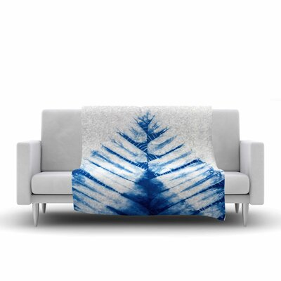 Draper Shibori Watercolor Fleece Throw Size: 50 W x 60 L
