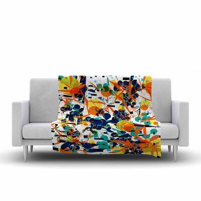 Frederic Levy Hadida Foliage Folie 1 Digital Fleece Throw Size: 60 W x 80 L