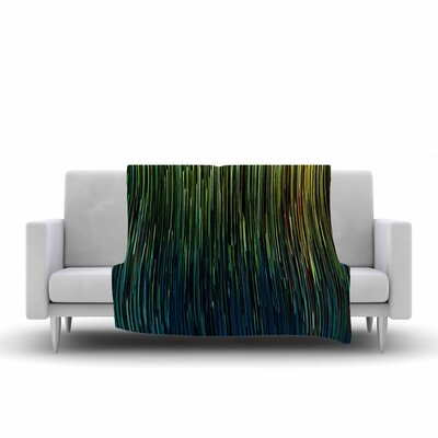 Ginkelmier Planet Pixel Billboard Digital Fleece Throw Size: 50 W x 60 L
