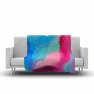 Geordanna Fields Sabras Painting Fleece Throw Size: 60 W x 80 L