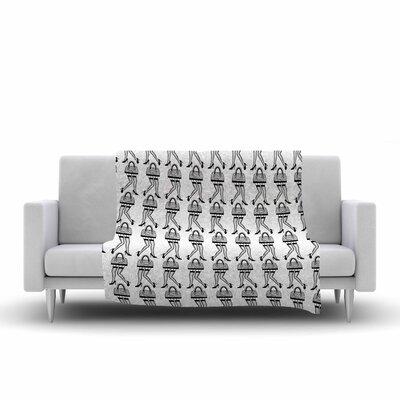 Ivan Joh I Love Shopping Illustration Fleece Throw Size: 60 W x 80 L