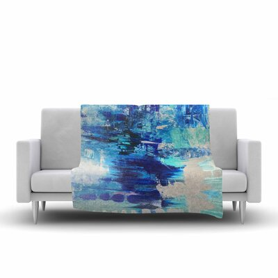 Geordanna Fields Walked on Water Abstract Fleece Throw Size: 60 W x 80 L
