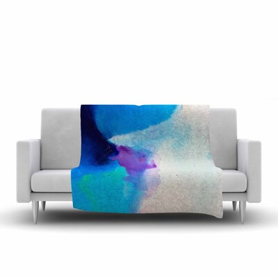 Geordanna Fields Happiness is Like a Butterfly Abstract Fleece Throw Size: 60 W x 80 L
