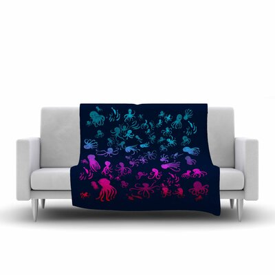 Frederic Levy Hadida Octocrowdy Digital Fleece Throw Size: 50 W x 60 L