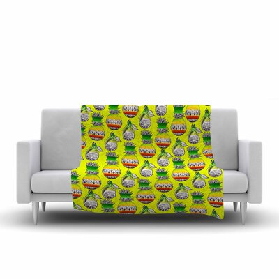 Ivan Joh Fruit Illustration Fleece Throw Size: 50 W x 60 L
