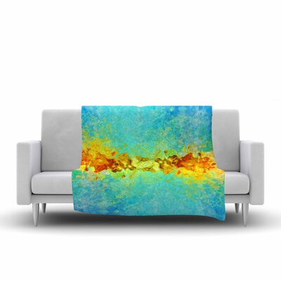 Ginkelmier Colorful Earthly Abstract Abstract Fleece Throw Size: 50 W x 60 L
