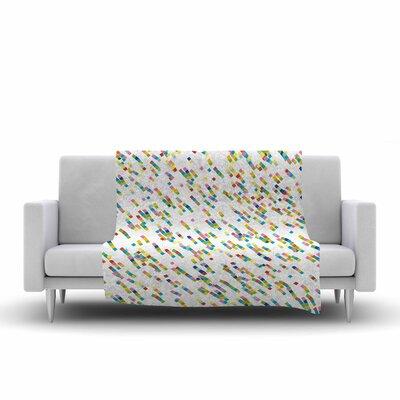 Frederic Levy Hadida Squares Salad Digital Fleece Throw Size: 50 W x 60 L