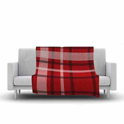 Famenxt Plaid Digital Fleece Throw Size: 50 W x 60 L