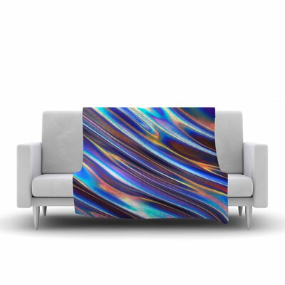 Danny Ivan Iridescent Illustration Fleece Throw Size: 60 W x 80 L