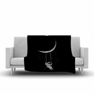 Digital Carbine Moon Swing Fantasy Illustration Fleece Throw Size: 60 W x 80 L