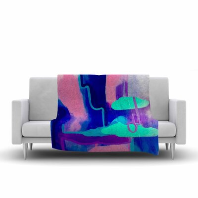 Geordanna Fields Needed Me Painting Fleece Throw Size: 60 W x 80 L