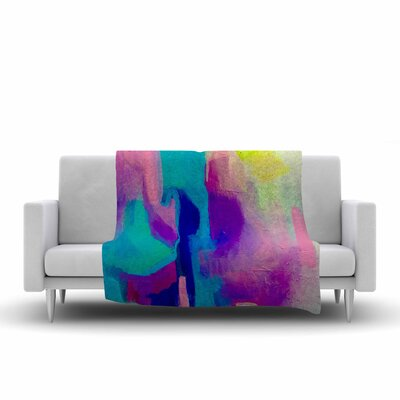 Geordanna Fields Deveraja Abstract Fleece Throw Size: 50 W x 60 L