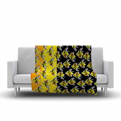 Ivan Joh Bananas Painting Fleece Throw Size: 60 W x 80 L
