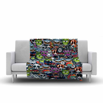 Ivan Joh Holiday Chaos Illustration Fleece Throw Size: 50 W x 60 L