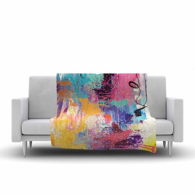 Geordanna Fields the Life After Abstract Fleece Throw Size: 50 W x 60 L