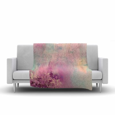 Geordanna Fields Serene Nebula Painting Fleece Throw Size: 50 W x 60 L