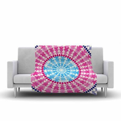 Famenxt Mandala Illustration Fleece Throw Size: 50 W x 60 L