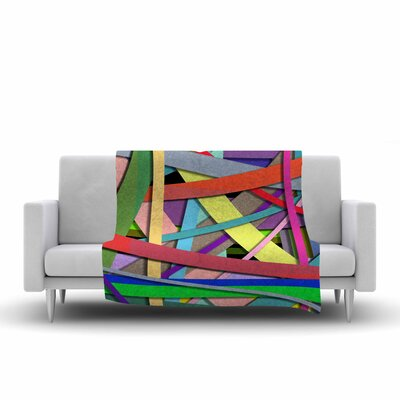 Ivan Joh Color Mood Illustration Fleece Throw Size: 60 W x 80 L