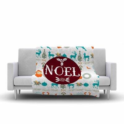 Famenxt Noel Digital Fleece Throw Size: 60 W x 80 L