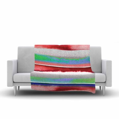 Ebi Emporium Prism Stripe 2 Fleece Throw Size: 60 W x 80 L