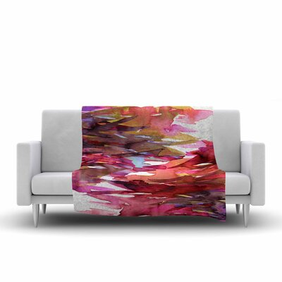 Ebi Emporium Fervor 6 Watercolor Fleece Throw Size: 50 W x 60 L