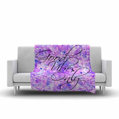 Ebi Emporium Good Vibes Only 3 Fleece Throw Size: 60 W x 80 L