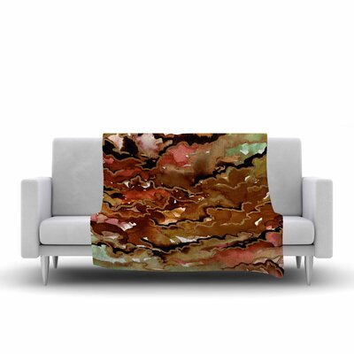 Ebi Emporium Texas Love Painting Fleece Throw Size: 50 W x 60 L