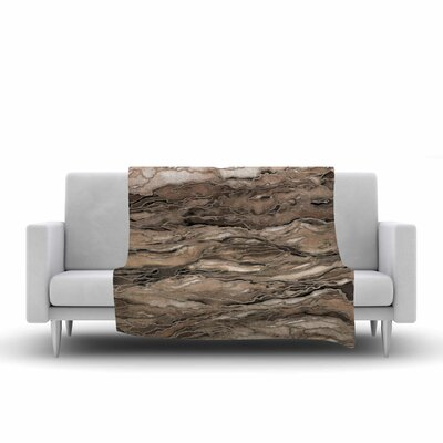 Ebi Emporium Marble Idea, Rustic Elements Watercolor Fleece Throw Size: 50 W x 60 L