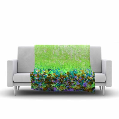 Ebi Emporium Natures Living Room, Painting Fleece Throw Size: 50 W x 60 L, Color: Green
