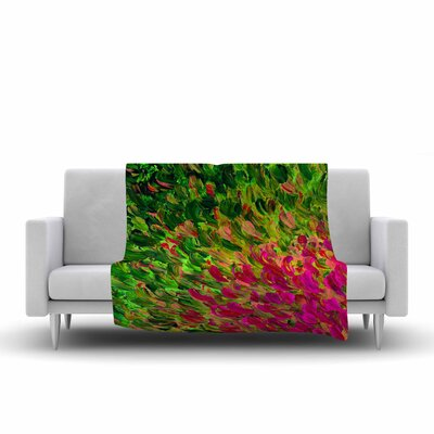 Ebi Emporium Watermelon Splash Fuchsia Fleece Throw Size: 60 W x 80 L